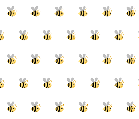 Buzzy Bee2  - Medium fabric by drapestudio on Spoonflower - custom fabric