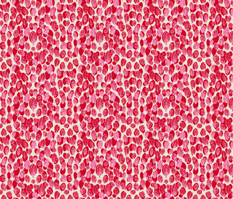 big leaves - red/pink/sand fabric by cinneworthington on Spoonflower - custom fabric