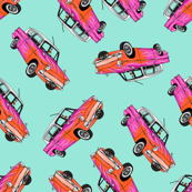 Pink Cars with Flames