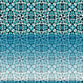Square Print Design Blue Gradient