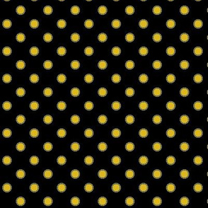 Black&yellow polka dot
