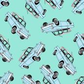Pastel Blue Cars