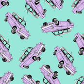 Pastel Purple Cars