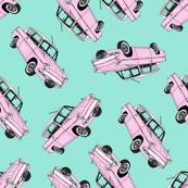 Pastel Pink Cars