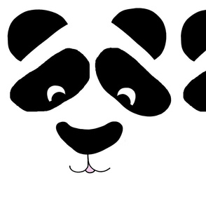 Smiling Panda pillow panel or FQ