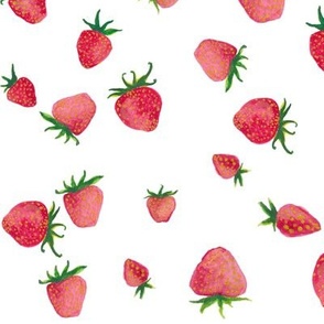 falling strawberries