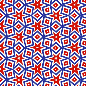 Red White and Blue Patriotic Stars