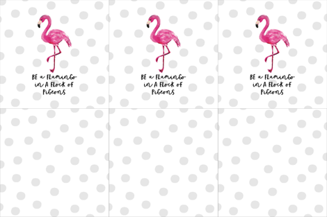Flamingo Pillow Pattern 18x18- Cut and Sew fabric by lillianburns on Spoonflower - custom fabric
