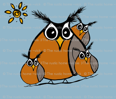 Roly Poly Robins Family panel