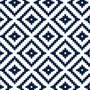 Aztec (small scale) // navy