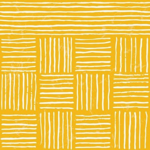 Retro Grace Stripes - Mustard - Large