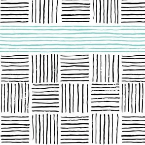 Retro Grace Stripes w/ Teal
