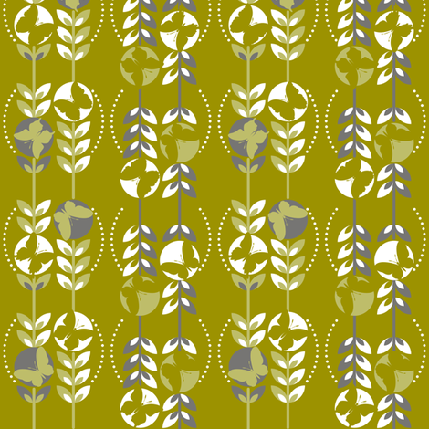 Butterfly Stems fabric by paula's_designs on Spoonflower - custom fabric