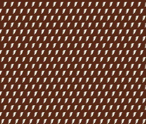 Lightning bolt - brown and white fabric by sansan on Spoonflower - custom fabric