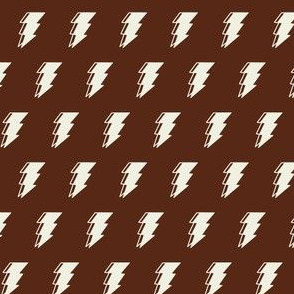 Lightning bolt - brown and white