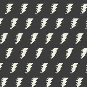 Lightning bolt - dark monochromatic
