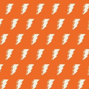 Lightning bolt - orange monochromatic