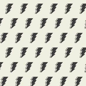 Lightning bolt - black and white