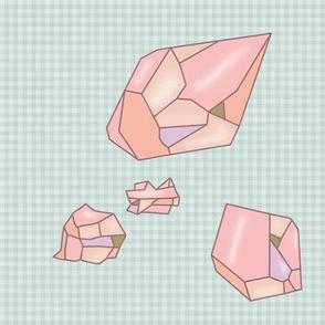 pink crystals mint vichy
