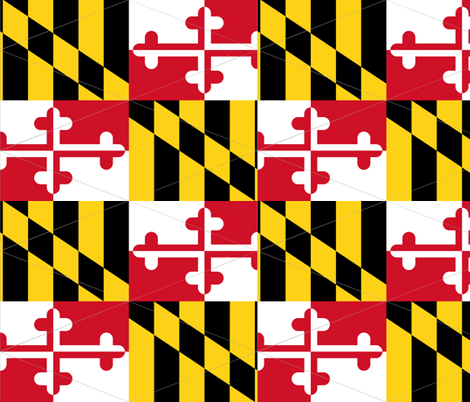 Maryland Flag Pennants fabric by pigtowndesign on Spoonflower - custom fabric