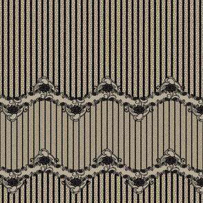 Floral Lace Stripe-Nude