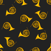 Gold French Horns