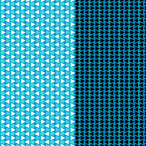 Triangle Design White Black Sky Blue