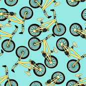 Pastel Yellow Bikes