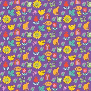 Spring Showers purple