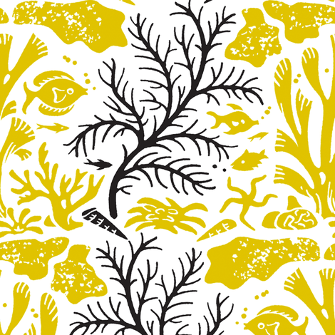 Coral Reef 1c fabric by muhlenkott on Spoonflower - custom fabric