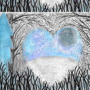 Rustic Heart nature panel