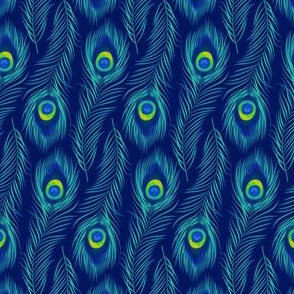 Peacock Feather - Tropical Blue