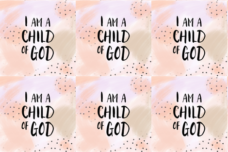 "18"" i am a child of God || blush fabric by littlearrowdesign on Spoonflower - custom fabric"