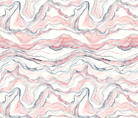 Watercolor marble fabric by rebecca_reck_art on Spoonflower - custom fabric