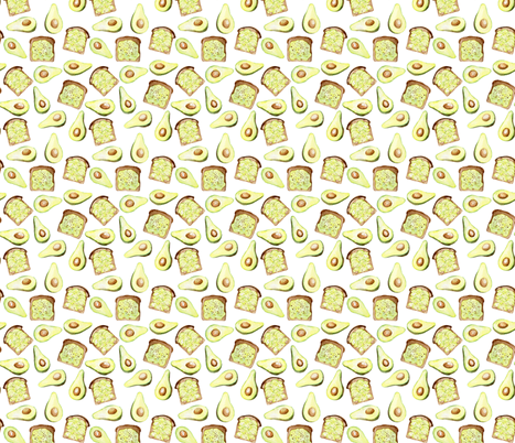 Avocado vibes fabric by rebecca_reck_art on Spoonflower - custom fabric