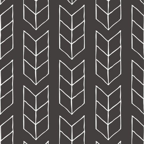 drawn triple chevron arrow - black