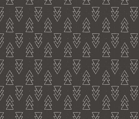 drawn triple triangle arrow - black fabric by rarebirddesignco on Spoonflower - custom fabric