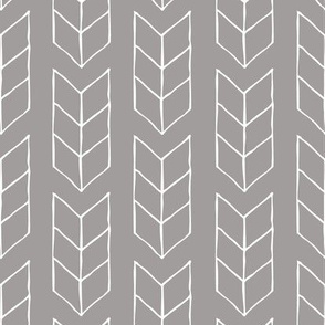 drawn triple chevron arrow - gray