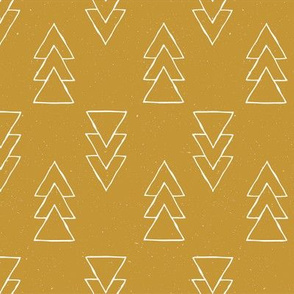 drawn triple triangle arrow - golden spice