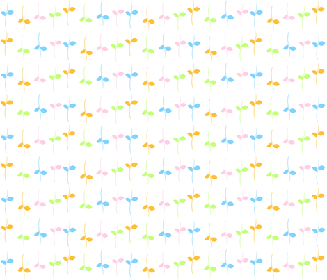 Leaves in Pastels-SMALL fabric by drapestudio on Spoonflower - custom fabric