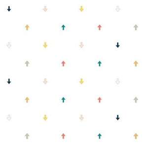 Colorful Arrows, A Bright Fun Geometric Pattern