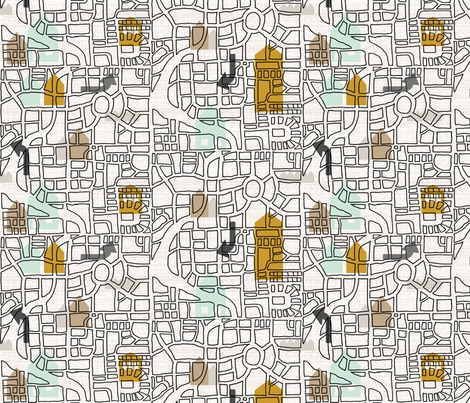 Map Color Block Large Scale fabric by mrshervi on Spoonflower - custom fabric