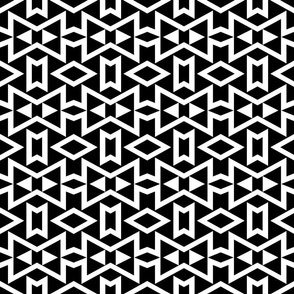 Tribal - Black and White Geometric