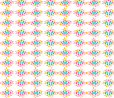 Aztec  Quilt Row- SMALL - tropical pink fabric by drapestudio on Spoonflower - custom fabric