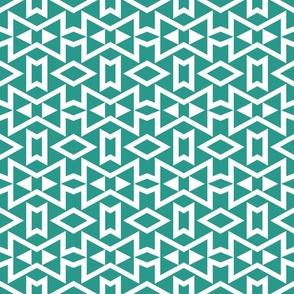 Teal Geometric