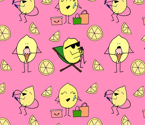 Lemon Friends fabric by efolsen on Spoonflower - custom fabric