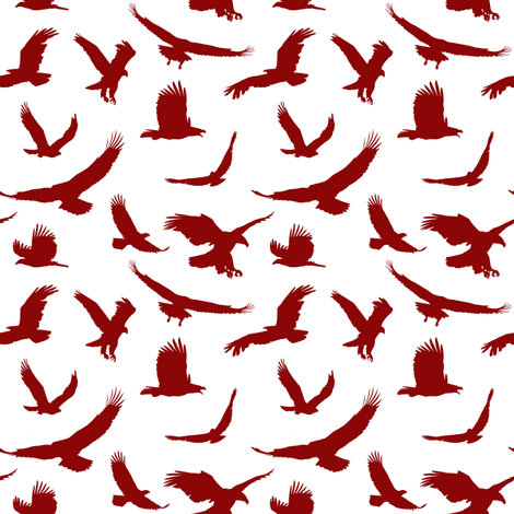 Red Eagles // Small fabric by thinlinetextiles on Spoonflower - custom fabric
