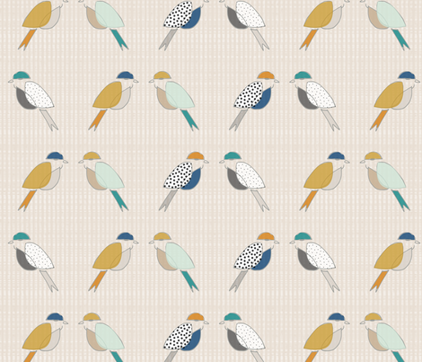 Mid Century Modern Birds fabric by mrshervi on Spoonflower - custom fabric