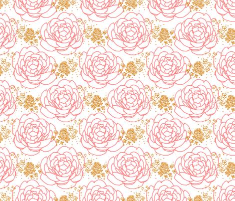 Peony Pink Gold fabric by mrshervi on Spoonflower - custom fabric