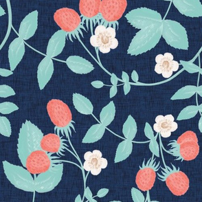Strawberry Summer // Navy